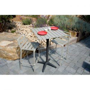 Blat pentru masă de grădină Ezeis Rotonde, gri închis