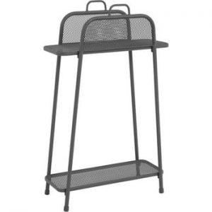 Etajeră de balcon metalică ADDU MWH, înălțime 105,5 cm, gri închis