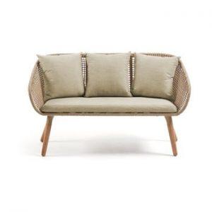 Canapea cu 2 locuri din lemn de eucalipt La Forma Gillian