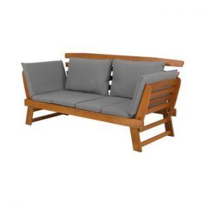 Canapea extensibilă de grădină din lemn de eucalipt Monobeli Tenerife