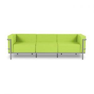 Canapea cu 3 locuri adecvată pentru exterior Calme Jardin Cannes, verde lime - gri