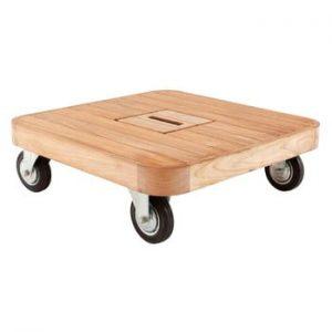 Masă joasă de grădină din lemn de tec cu roți Ezeis Resort