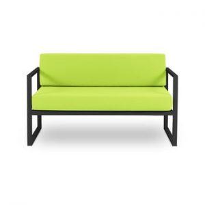 Canapea cu două locuri, adecvată pentru exterior Calme Jardin Nicea, verde lime - negru