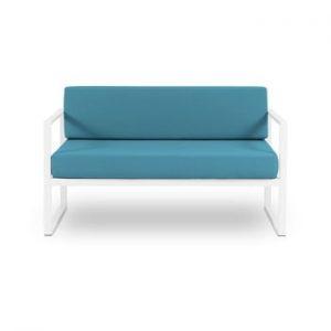 Canapea cu două locuri, adecvată pentru exterior Calme Jardin Nicea, albastru