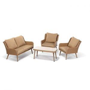 Set mobilier de grădină Timpana Mirnatio, maro cappuccino