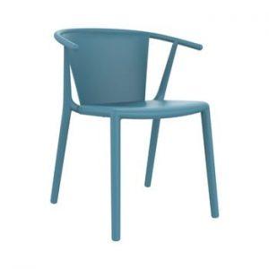 Set 2 scaune de grădină Resol Steely, albastru