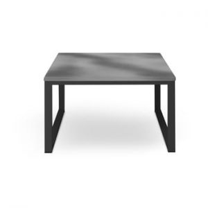 Masă adecvată pentru exterior, în decor de beton Calme Jardin Nicea, lungime 70 cm, gri - negru