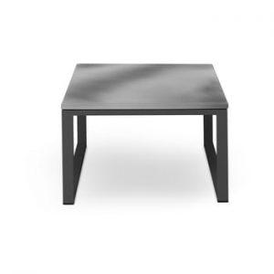 Masă adecvată pentru exterior, în decor de beton Calme Jardin Nicea, lungime 60 cm, gri - negru