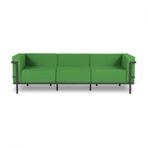 Canapea cu 3 locuri adecvată pentru exterior Calme Jardin Cannes, verde - negru