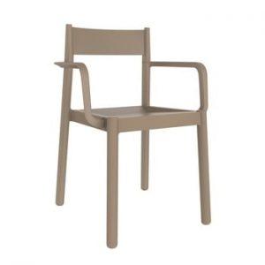 Set 4 scaune de grădină cu cotierei Resol Danna, maro nisipiu