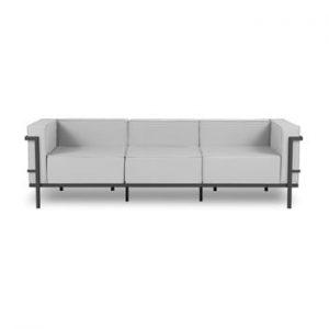 Canapea cu 3 locuri adecvată pentru exterior Calme Jardin Cannes, gri - negru