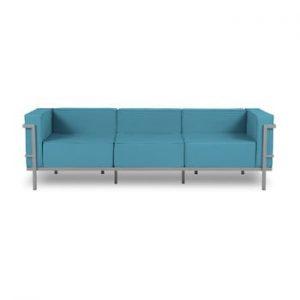 Canapea cu 3 locuri adecvată pentru exterior Calme Jardin Cannes, albastru - gri
