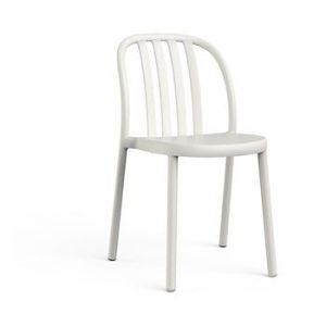 Set 2 scaune de grădină Resol Sue, alb