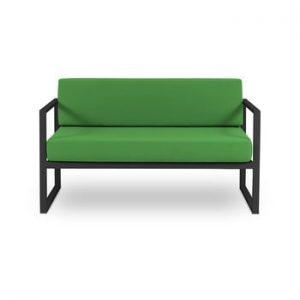 Canapea cu două locuri, adecvată pentru exterior Calme Jardin Nicea, verde - negru