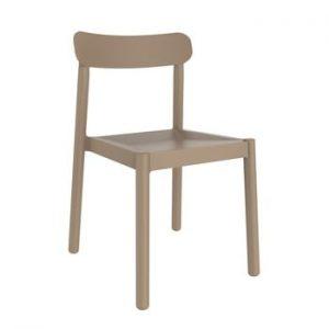 Set 4 scaune de grădină Resol Elba, maro nisipiu