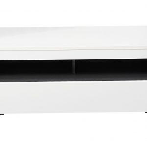 Comoda TV din pal si MDF, cu 1 sertar Dakota Small Alb, l120xA47xH53 cm