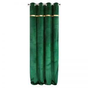 Draperie Emera Velvet Verde, 140 x 250 cm, 1 bucata