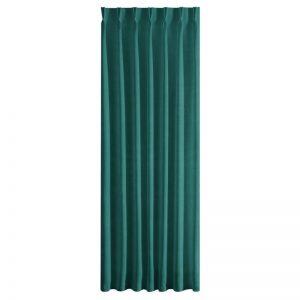 Draperie Ines Velvet Verde, 140 x 270 cm, 1 bucata