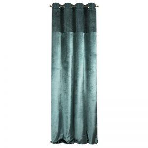 Draperie Mady Velvet Petrol / Argintiu, 140 x 250 cm, 1 bucata