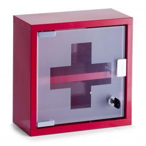Dulap pentru medicamente, Metal Red, l25xA12xH25 cm