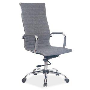 Scaun de birou ergonomic tapitat cu stofa Zion Gri, l55xA47xH108-116 cm