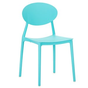 Scaun din plastic, cu picioare din plastic Lolita Blue, l47xA42xH82cm