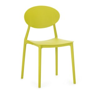 Scaun din plastic, cu picioare din plastic Lolita Green, l47xA42xH82cm