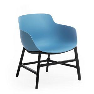 Scaun din plastic, cu picioare metalice Ines Blue, l63xA62xH70cm