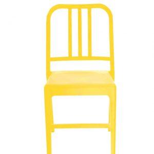 Scaun din plastic Luca Yellow, l50xA44xH80 cm