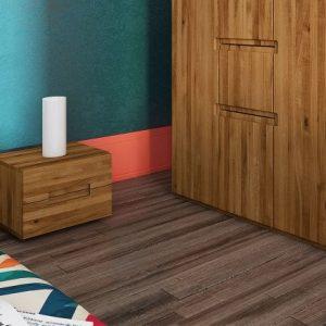 Noptiera din lemn masiv de stejar Vento A natural, l40xA35xH30 cm