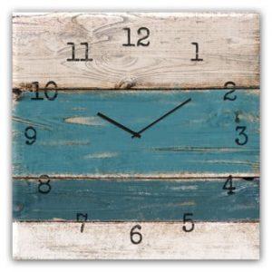 Ceas de perete Styler Glassclock Blue Wood, 30 x 30 cm