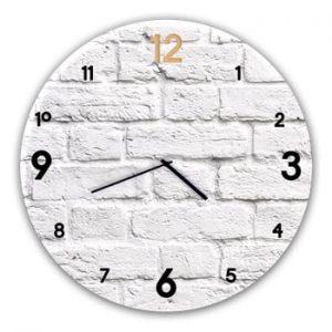 Ceas de perete Styler Glassclock Brick, ⌀ 30 cm