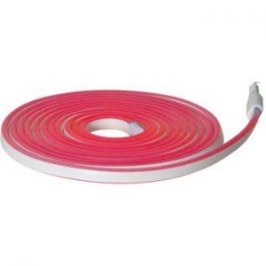 Sirag luminos pentru exterior Best Season Rope Light Flatneon, lungime 500 cm, rosu