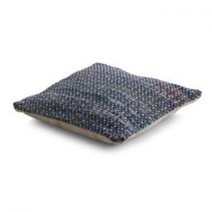 Perna texturata cu umplutura Geese Ceylon, 45x 45 cm, albastru