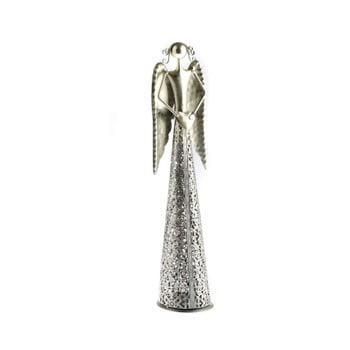 Decoratiune metalica in forma de inger Dakls Angel, inaltime 49cm