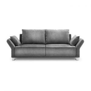 Canapea extensibila cu invelis de catifea cu 3 locuri Windsor & Co Sofas Pyxis, gri