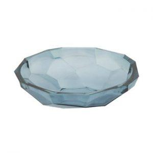 Bol din sticla reciclata Mauro Ferretti Stone, ø34cm, albastru