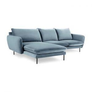 Coltar cu sezlong pe partea stanga Cosmopolitan Design Vienna, albastru deschis