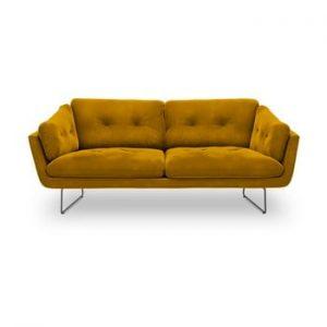 Canapea cu 3 locuri Windsor & Co Sofas Gravity, galben