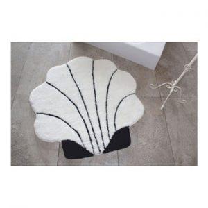 Covor Confetti Bathmats Shell, Ø 90 cm, negru - alb