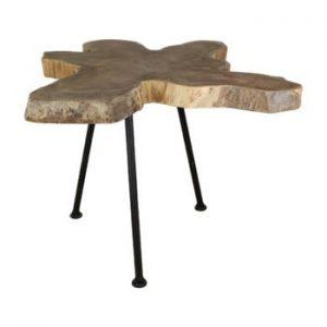 Masuta auxiliara din lemn de tec HSM Collection Doff, 50 x 50 cm