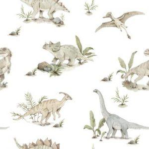 Set autocolante de perete Dekornik, dinozauri
