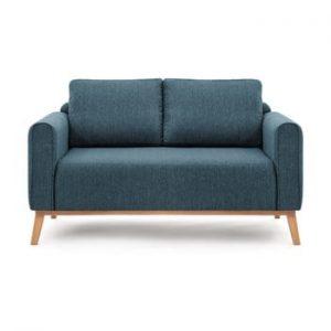 Canapea pentru 2 persoane Vivonita Milton, albastru mineral