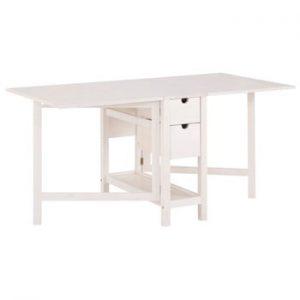 Masa extensibila din lemn de pin Støraa Leon, alb