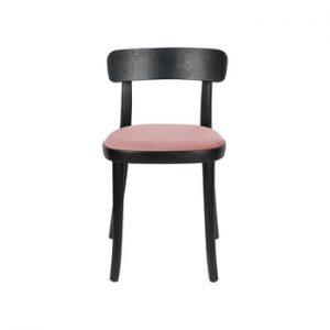 Set 2 scaune cu sezut roz Dutchbone Brandon, negru