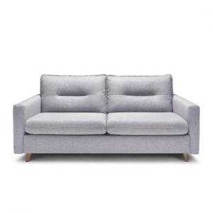 Canapea extensibila cu 3 locuri Bobochic Paris Sinki, gri deschis