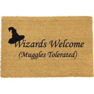 Covoras intrare din fibre de cocos Artsy Doormats Wizards Welcome, 40 x 60 cm