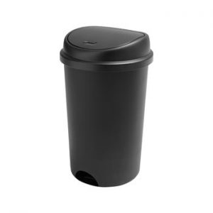 Cos de gunoi cu capac Addis, inaltime 64,5 cm, negru