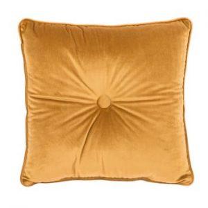 Perna Tiseco Home Studio Velvet Button, 45x45cm, galben inchis