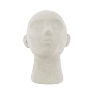 Statueta decorativa PT LIVING Face Art, inaltime 22,8 cm, alb fildes